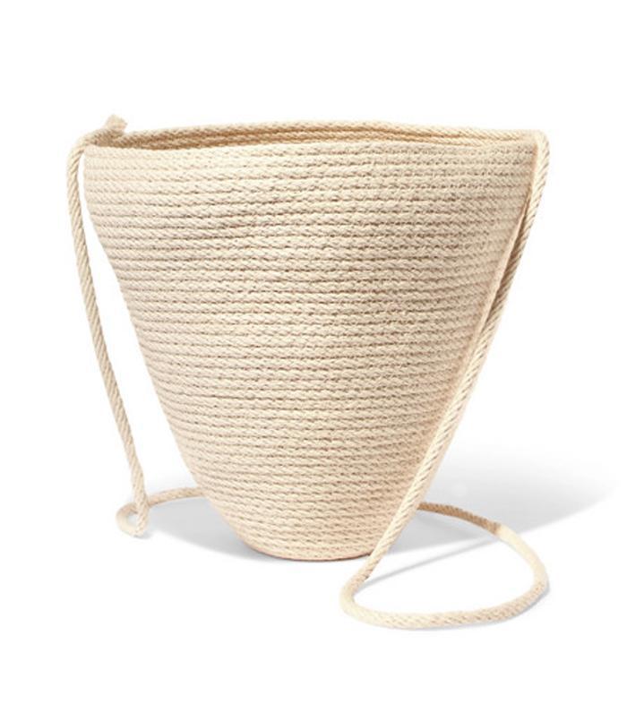 Woven Cotton Bucket Bag by Catzorange