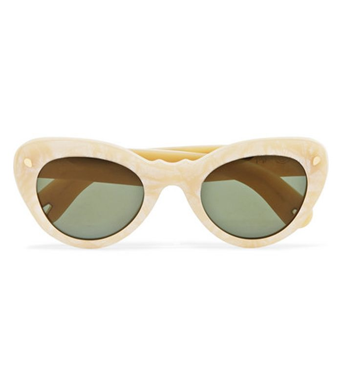 Wingspan Cat-Eye Acetate Sunglasses by Lucy Folk