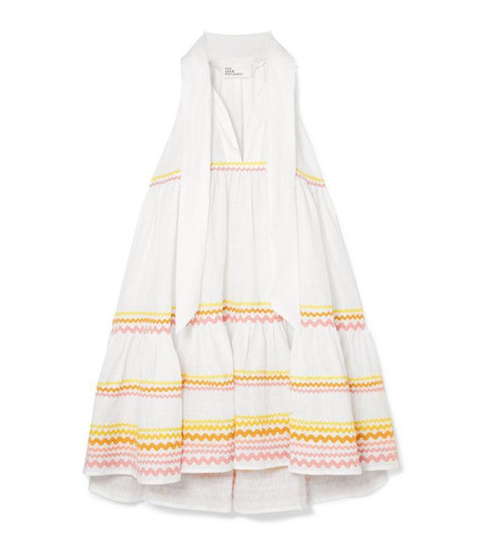 Ava Lily Tiered Linen Mini Dress by Lisa Marie Fernandez