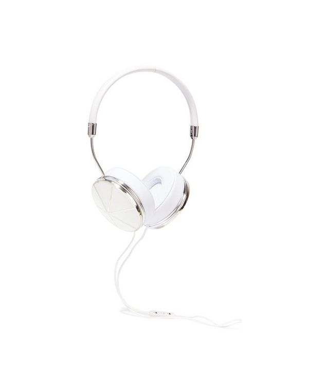Frends Taylor Leather and Silver-Plated Headphones