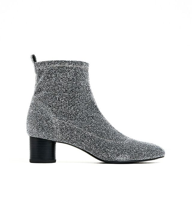 Zara Shiny Ankle Sock Boots