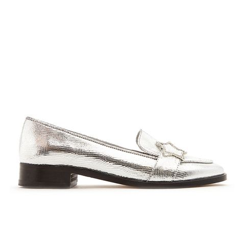 Embellished-Star Faux-Leather Loafers