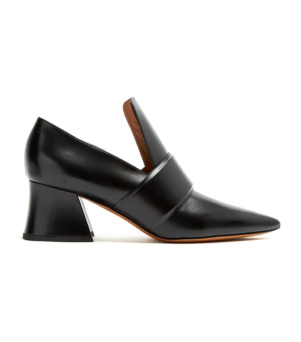 Patricia point-toe leather loafers