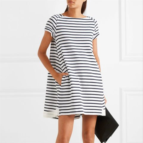 Dixie Striped Cotton Mini Dress