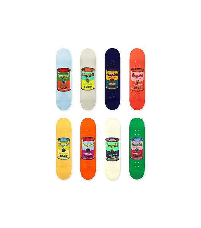 Andy Warhol Skateboard Colored Campbell's Soup Cans