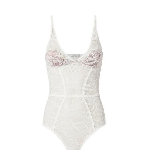 Chat Lace Plunge Bodysuit
