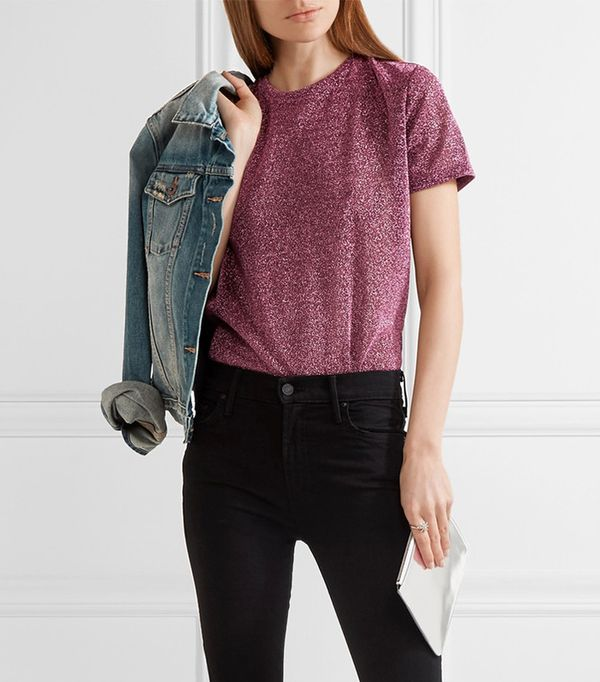 Essex Metallic Stretch-knit Bodysuit