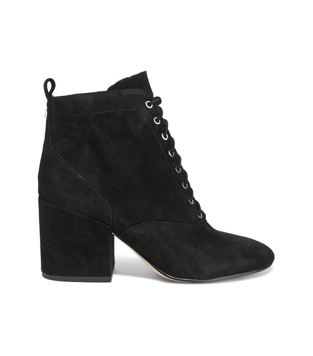Sam Edelman Tate Lace-Up Suede Ankle Boots