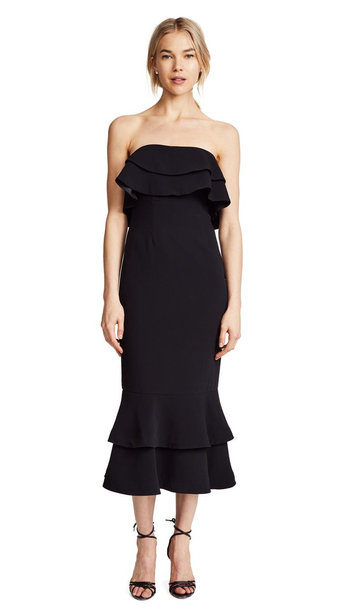 17 black dresses you can totally wear to a wedding who what wear ombrellifo Image collections