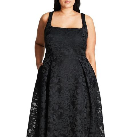 Jackie O Lace Fit And Flare Dress