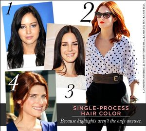 Single-Process Hair Color
