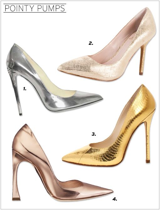 Balmain 100MM Silver Patent Leather Pumps ($967) Vince Camuto Harty Heels ($100) KORS Michael Kors Aberly Metallic Genuine Snake Pumps ($275) Christian Dior Pumps ($790, 1.800.929.DIOR) in Mirror...