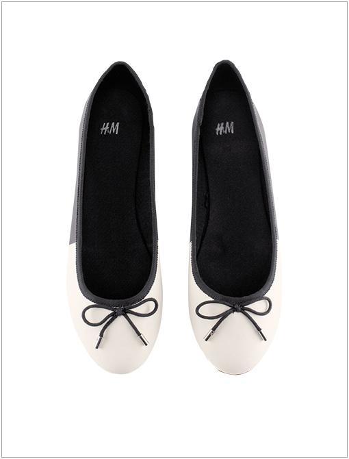 Ballet Flats ($18) in Black/White