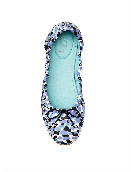 Flynn Printed Ballet Flats ($50) in Pop Turquoise