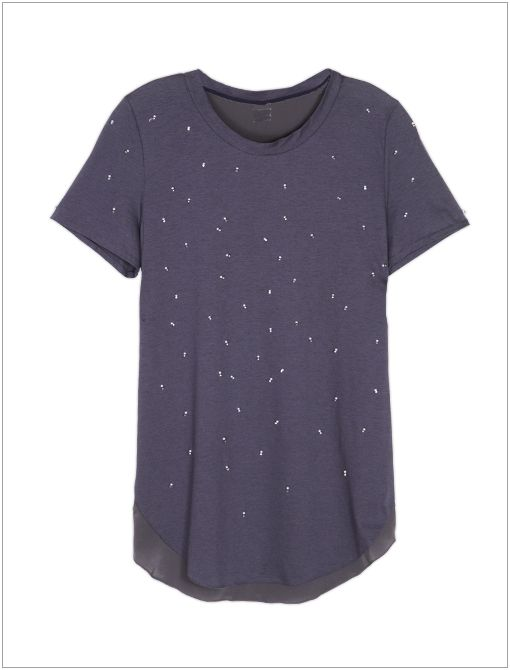 Side Seam T-Shirt with Pearl Droplet Embellishments ($295)