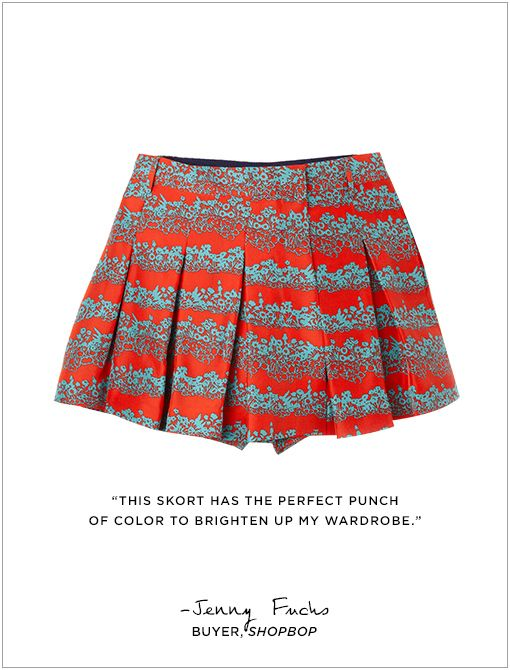 The Skort ($495) in CrimsonImage courtesy of Shopbop