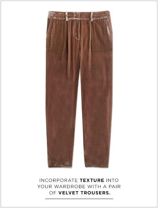 Cropped Velvet Pants ($178)