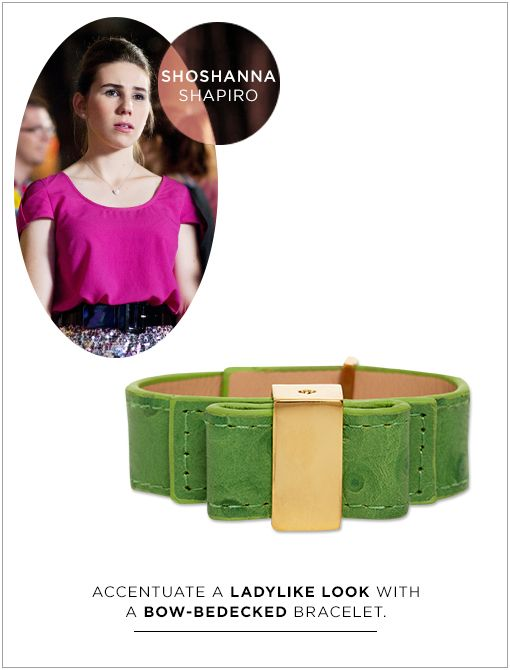 Ostrich Bow Bridge Bracelet ($88)  This undergrad's by-the-book mentality translates into a wardrobe filled with trendy pieces. Her outfits tend to be a bit girly, always match perfectly, and are...