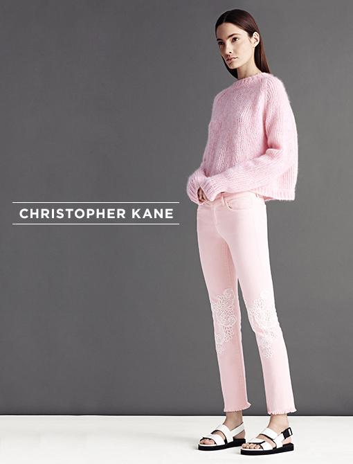 Crop Marl Jumper ($855) J Brand/Christopher Kane Lace Detailed Low Rise Jeans ($575) Image courtesy of Christopher Kane