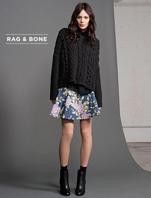 Adirondach Pullover ($395) in CharcoalJermyn Shirt ($325) in BlackKate Skirt ($395) in NavyNewbury Boots ($395) in Black Image courtesy of Rag & Bone