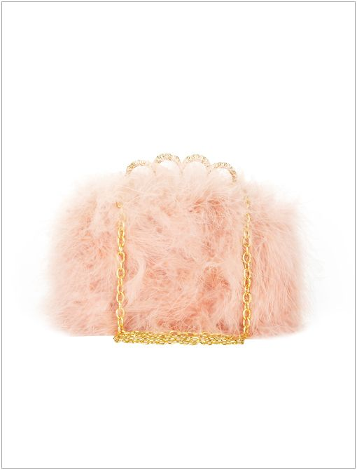 Quinn Feather Clutch ($148)