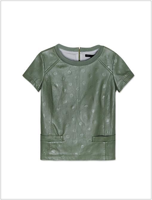Gia Dot Leather Shirt ($548, 212.929.0304)