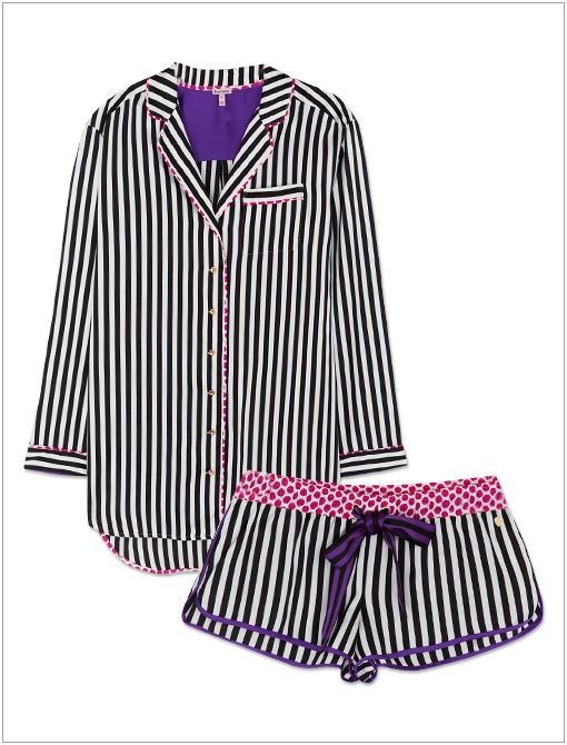 Striped Shirtdress ($70) and Gifting Boxer Short ($40)