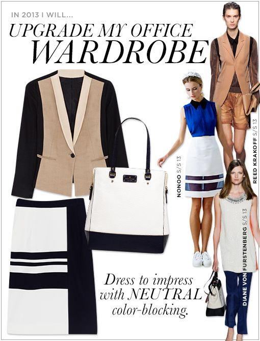 DKNY Colour Blocked Jacket with Leather Shawl Collar ($495, 1.800.231.0884)