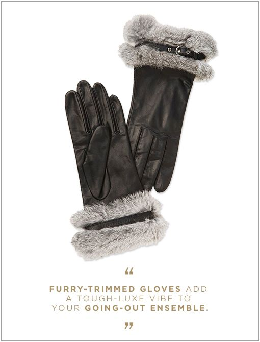 Armani Exchange Fur Trim Gloves ($98)