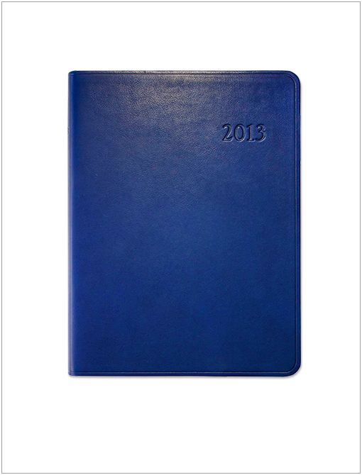 2013 Blue Traditional Leather Desk Diary ($97)