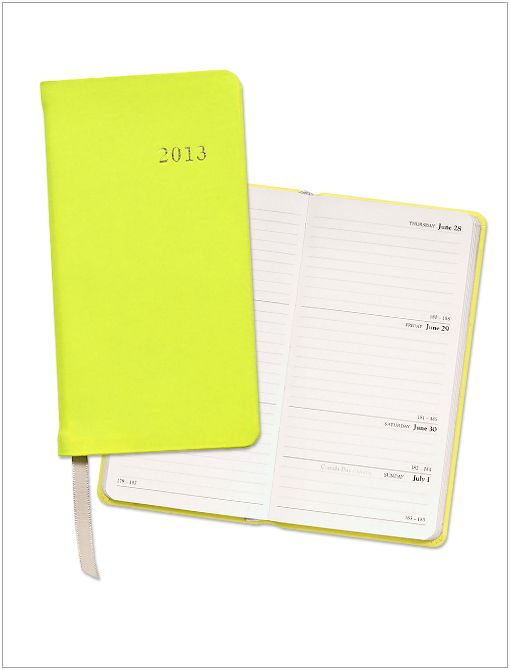 2013 Neon Yellow Mini Date Book ($25)