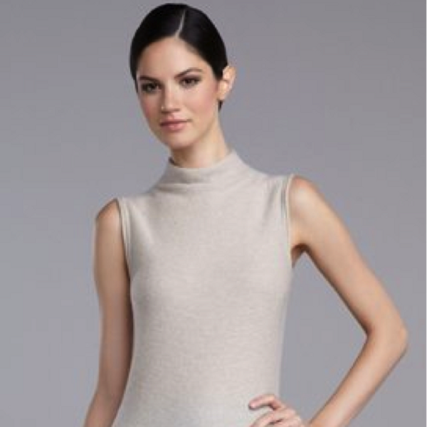 St. John St. John Micro-Links Cashmere Turtleneck Shell