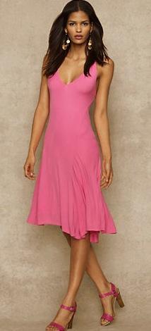 Ralph Lauren Blue Label Ralph Lauren Blue Label Jersey V-Neck Dress