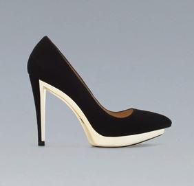 Zara Zara Metal Platform Court Shoes