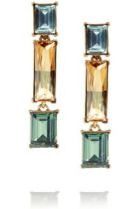 Oscar de la Renta Accessory Report 24K Swarovski Earrings