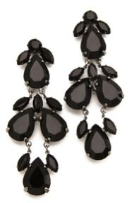 Juliet & Company Accessory Report Plume Noir Earrings