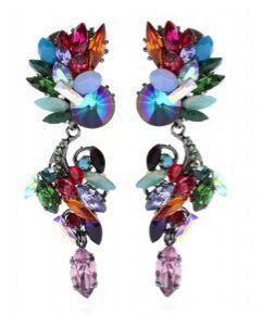 Erdem Accessory Report Crystal Bead Earrings