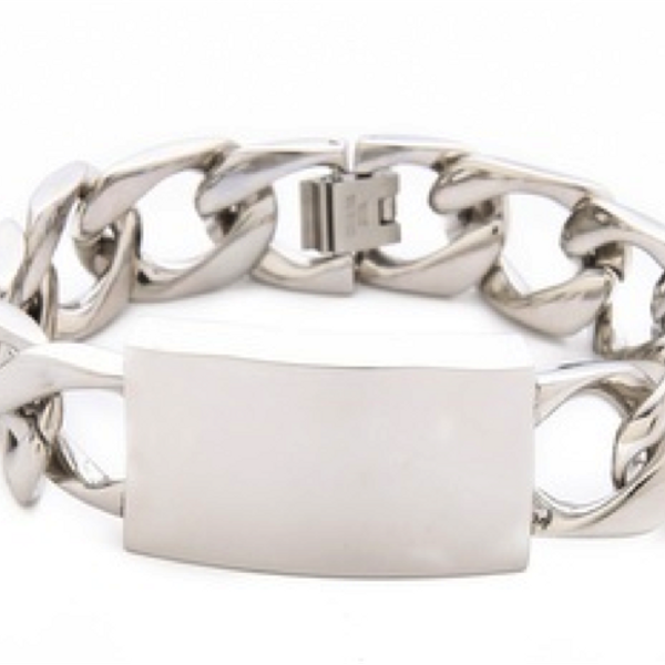 Nicholas Nicholas ID Bracelet in Silver
