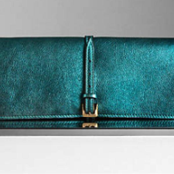 Burberry Burberry Prorsum Metallic Leather Clutch Bag