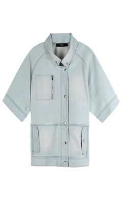 Tibi Tibi-Vintage Wash Denim Boxy Jacket