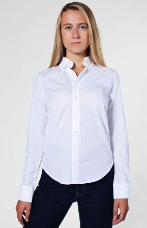 American Apparel Unisex Italian Long Sleeve Button-Down Shirt