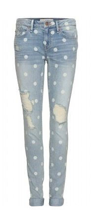Marc by Marc Jacobs Rolled Slim Polka Dot Print Jeans