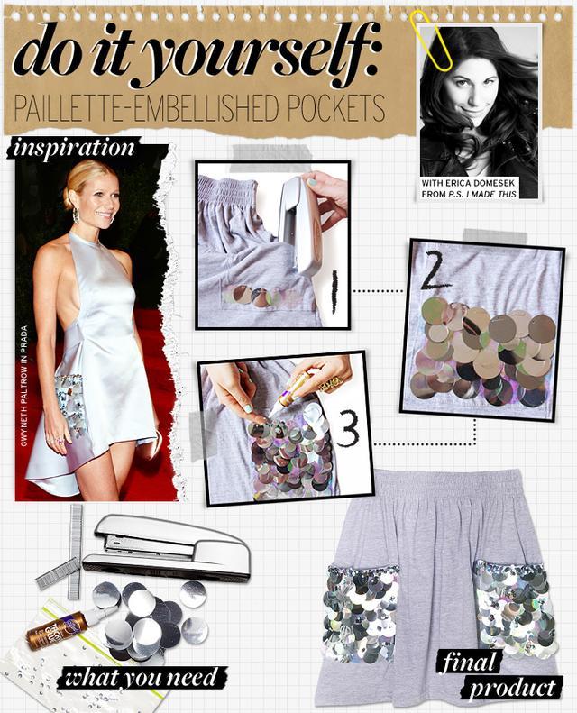 Paillette-Embellished Pockets