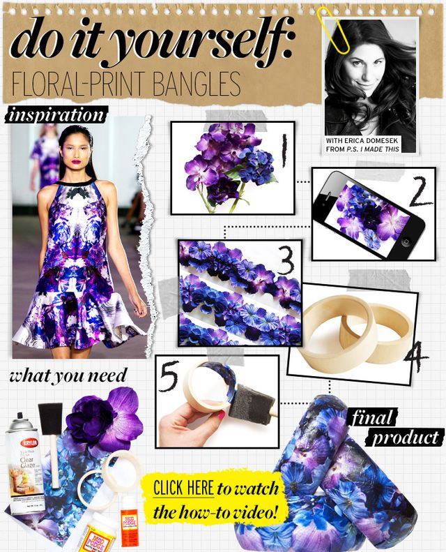 Floral-Print Bangles