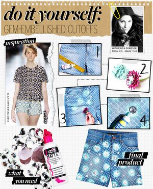 Gem-Embellished Shorts