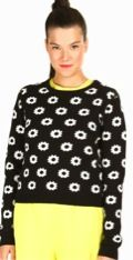 Opening Ceremony  Opening Ceremony Reversible Floral Long-Sleeve Pullover