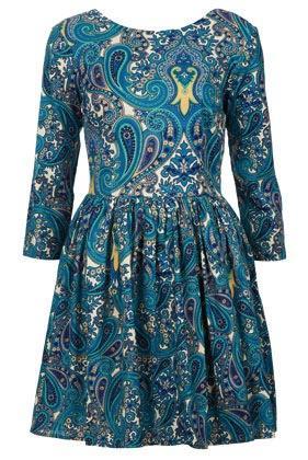 Topshop  Topshop Paisley Print Skater Dress