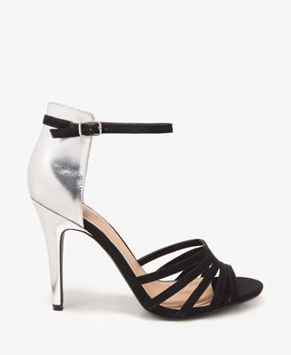 Forever 21 Metallic Heel Strappy Sandals