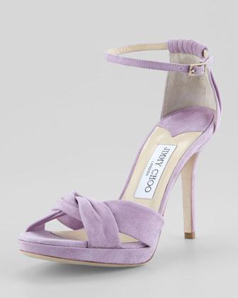 Jimmy Choo Marion Suede Platform Sandals