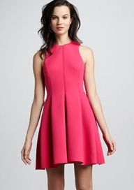 TIbi  Contoured Fit-and-Flare Dress